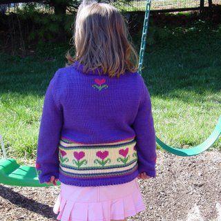 Heart flowers sweater