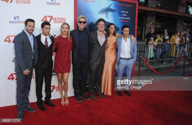 Cast Chris J Johnson Santiago Segura Claire Holt Matthew Modine director Johannes Roberts Mandy Moore and Yani Gellman arrive for the Premiere Of...