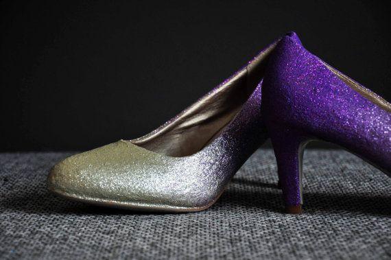 Violet ombre middelgrote hakken violet pompen drie door RagzDagzTM