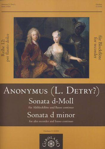 Anonymus (L. Detry?) - Sonata d-moll