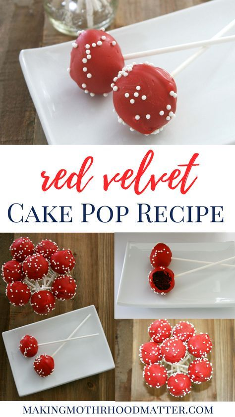 Cake pops are a delicious treat. They make great gifts, table toppers, stocking stuffers, or party favors. By changing the color and adding a few pearl sprinkles, cake pops are the perfect way to add a special touch to any get together. Visit www.makingmotherhoodmatter.com or click the link to exactly how to make my red velvet cake pop recipe, without having to buy any fancy gadgets.
