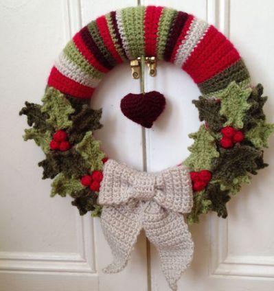 10 Christmas Wreath Crochet Patterns Crochet Pinterest