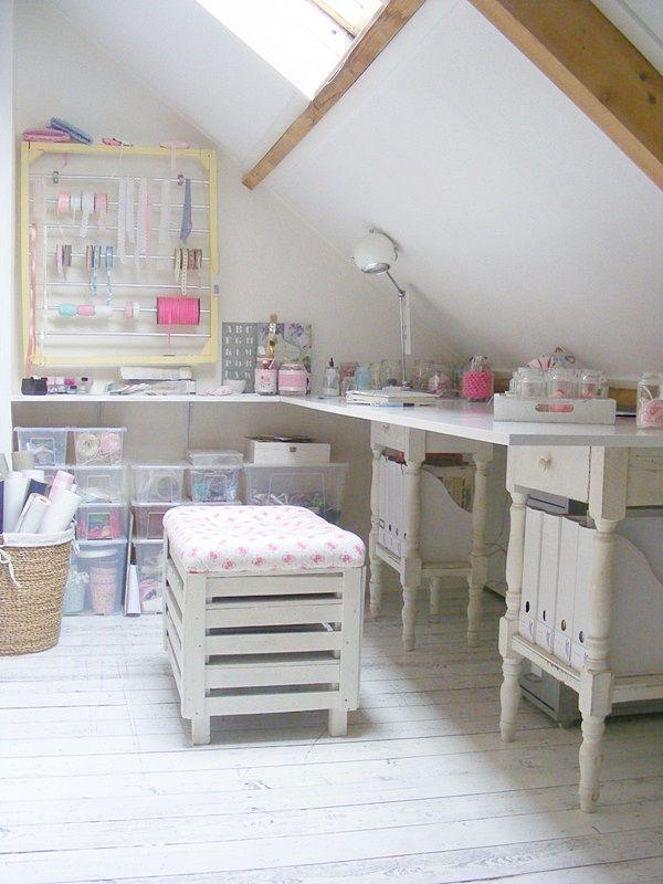 "A charming Dutch Craft Room ~ all light & bright ~ Susanne Otter Blog ""Frivole"""