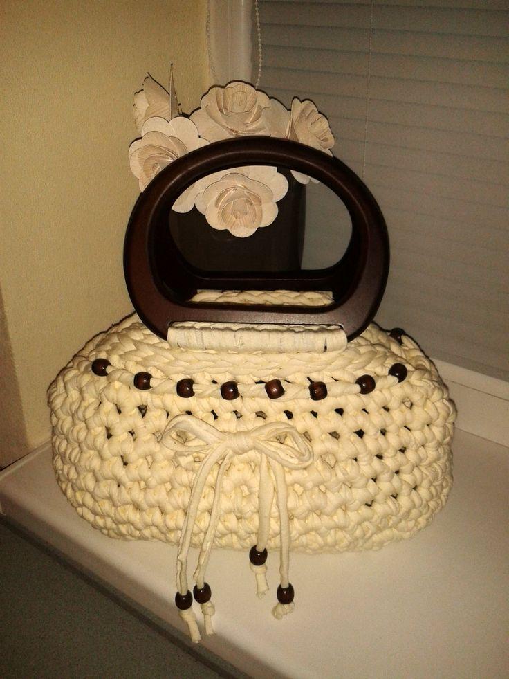 Cream white handbag