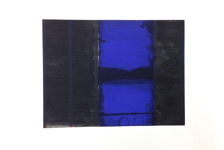 """Kjell Nupen Kjell Nupen (September 5, 1955 – March 12, 2014), norwegian artist. """"Hjemsted,"""" etching, 2003, 38 x 50 cm"""