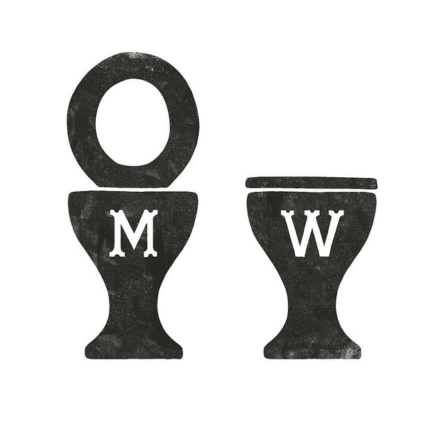 bathroom signs, simon walker