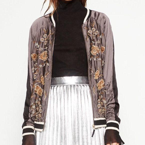 Zara Jackets & Coats - *SALE* Zara embroidered jacket