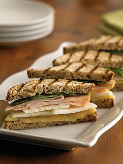 Ontario Apple, Aged Cheddar and Smoked Turkey Panini   onapples.com @Foodland Ontario