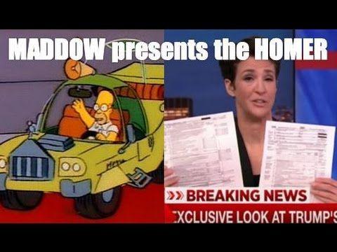 Rachel MADDOW presents the HOMER! TRUMP TAX Hype FAIL on MSNBC Live