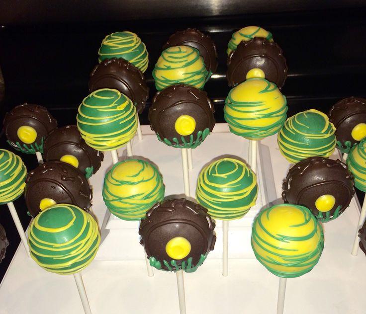 John Deere Cake Pops