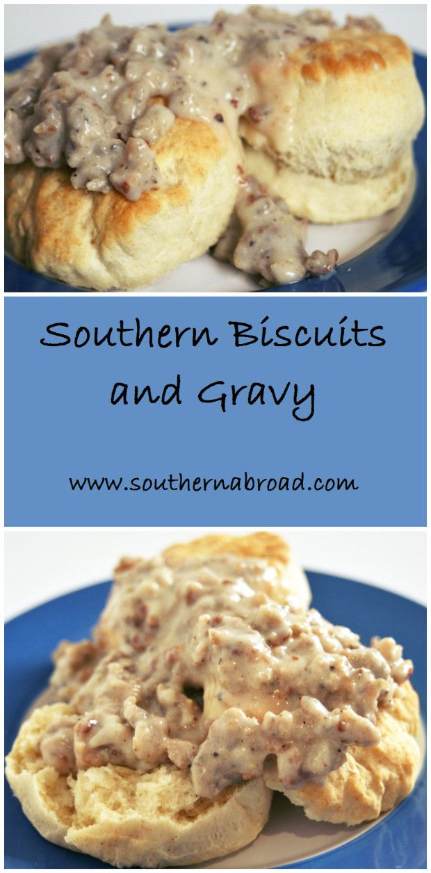 Southern Biscuits and Gravy. Biscuits from scratch. Biscuit breakfast. Sausage gravy. Biscuits and sausage gravy