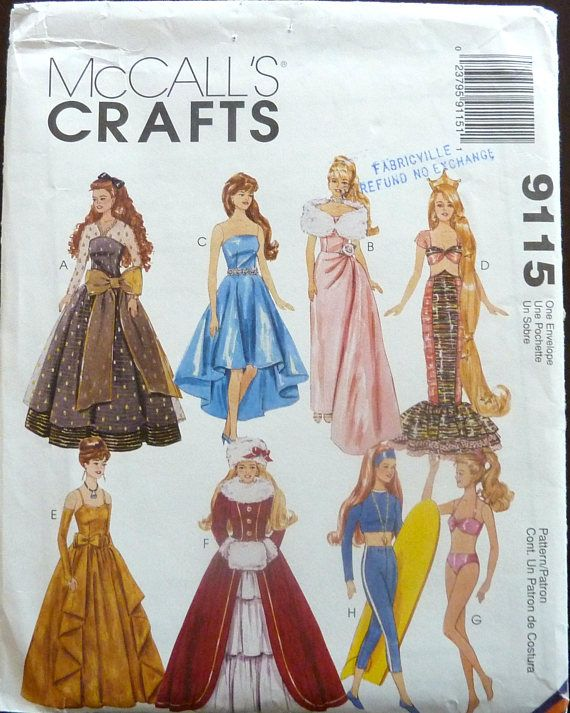 485 best Sewing Patterns images on Pinterest | Schnittmuster, Barbie ...