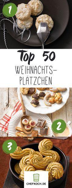Top 50 Weihnachtsplätzchen: Vanillekipferl, Zimtsterne & Co. für die Weihnachtsbäckerei. Backen im Advent