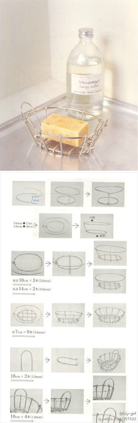 tutorial to make an aluminum wire soap dish... cute