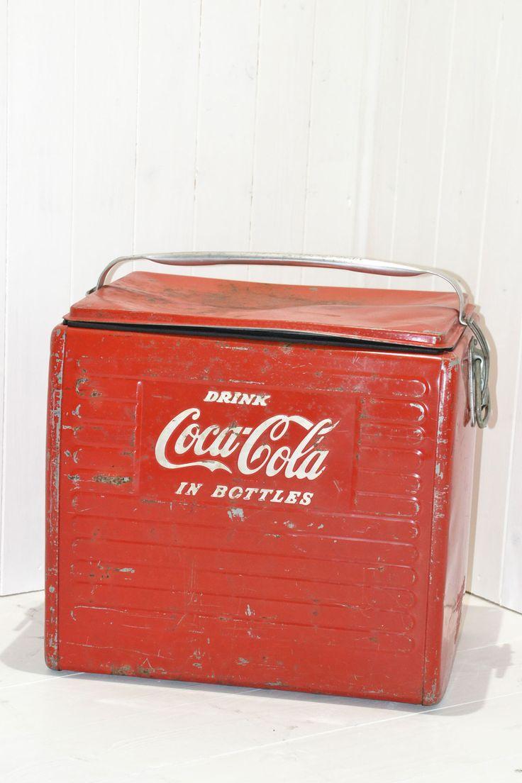 Ghiacciaia portatile coca cola vintage anni '50