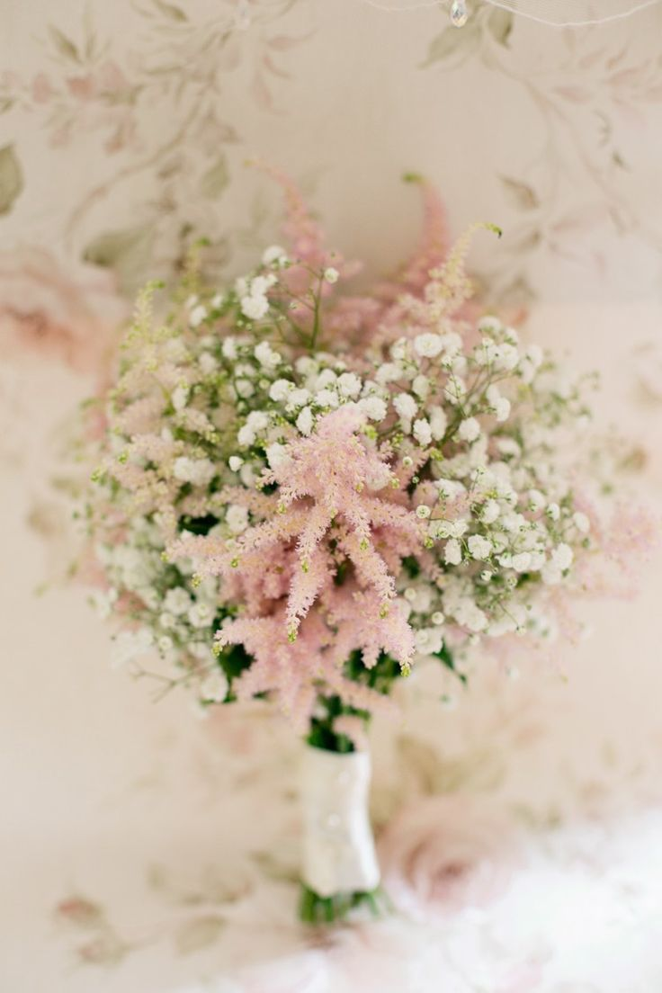 Gyposophia Astilbe Bouquet Flowers Bridesmaids Bride Bridal Pretty DIY Pink Village Hall Countryside Wedding http://www.jobradbury.co.uk/
