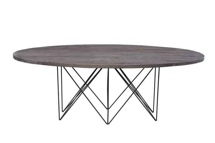 "Novel Dining Table - Vinegar Gloss Dimensions: WDH"": 46.5 x 20.5 x 31 Made with Acacia Wood"