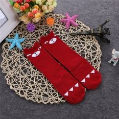 Cocotina Comfortable Baby Toddler Kids Girls Cartoon Animal Knee High Socks Tights Hosiery 0-6 Years (Wine Red) – S