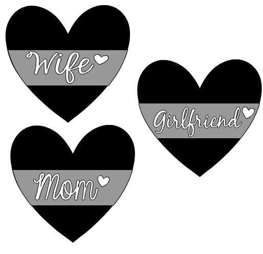 Correction Officer Support Family Car Decal- Choice of Wife, Mom, GF, Sister, Daughter Vinyl Car Decal Silver, Black, and White by MorningCupofAussie on Etsy https://www.etsy.com/listing/462909569/correction-officer-support-family-car