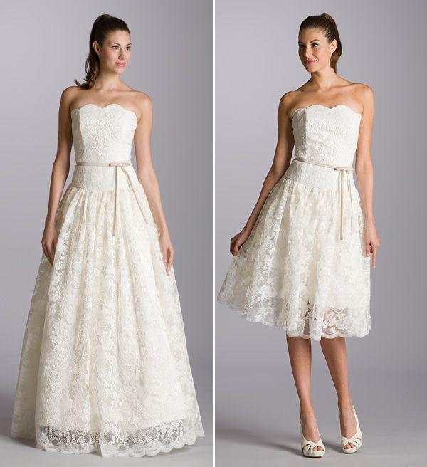 Aria Romantic Lace Wedding Dresses Short Reception Dress Full Bride Shows Onewed