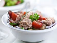 Wittebonen salade met tonijn