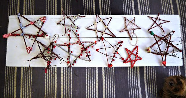 Twig Star Natural Ornaments for Christmas