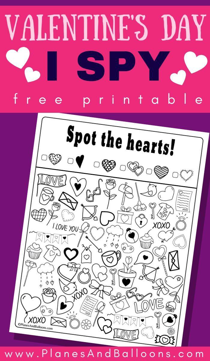 Valentine S Day I Spy Free Printable Planes Balloons Valentines Printables Free Valentines Day Activities Preschool Valentines [ 1200 x 700 Pixel ]