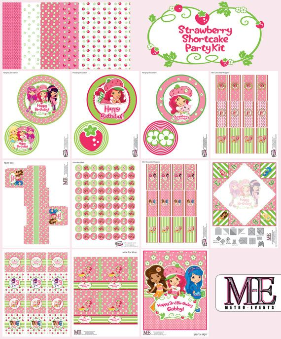 Strawberry Shortcake Party Decorations Strawberry by MetroEvents