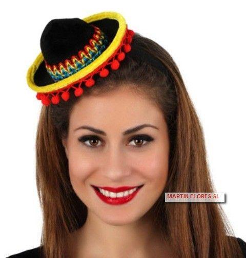 Mini gorro sexy para #Disfraz mejicana para tu #fiesta del colegio #tienda #online golosinas y disfraces #sevilla www.martinfloressl.es