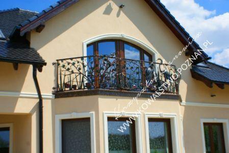 Balustrada balkonowa kuta wzór 1