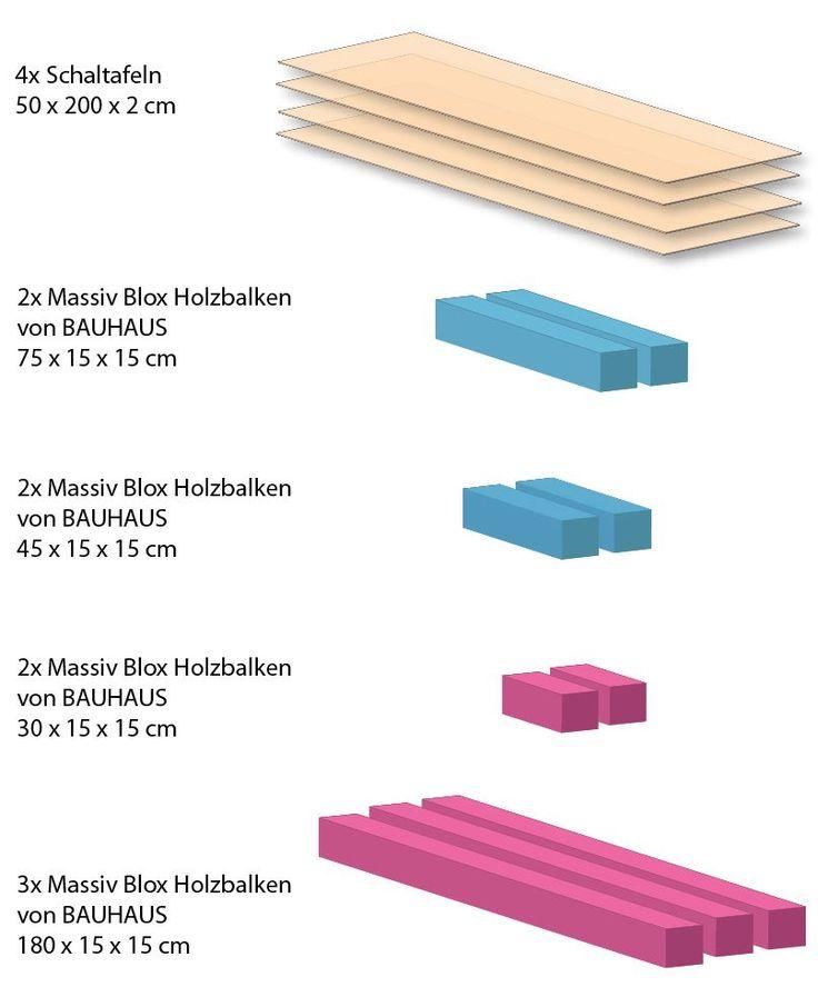 die besten 25 holzbett selber bauen ideen auf pinterest holzbalken bett paletten bett bauen. Black Bedroom Furniture Sets. Home Design Ideas