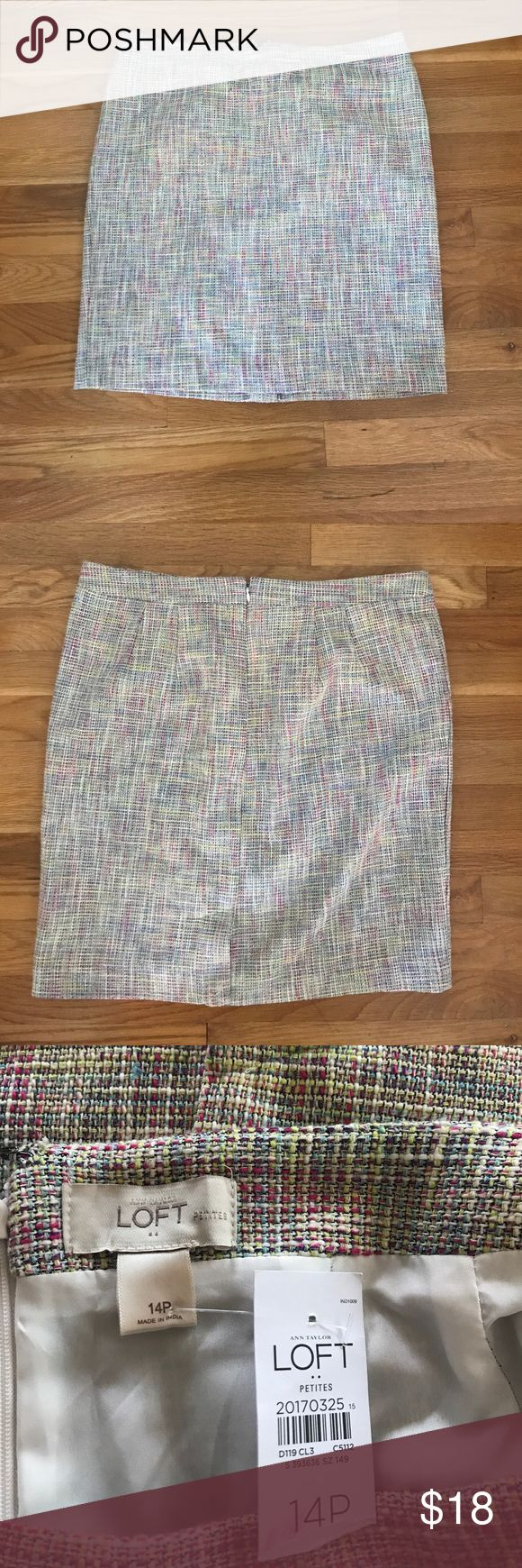 Tweed multi color skirt NWT tweed multi color skirt. Ann Taylor Skirts Midi