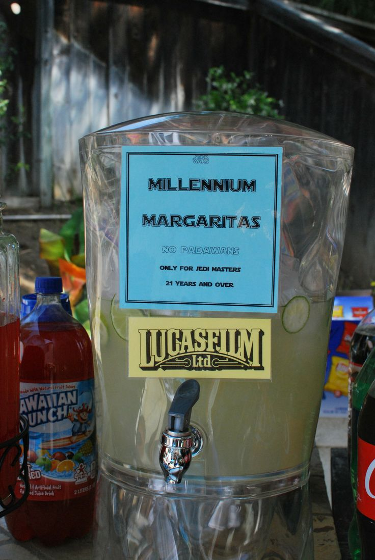 Homemade margaritas for the adults star wars party for Homemade birthday decorations for adults