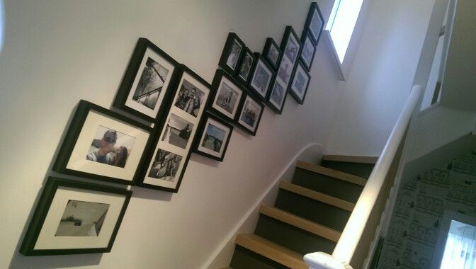Best Gallery Stairs With Grey Risers And Oak Treads Using Ikea 400 x 300