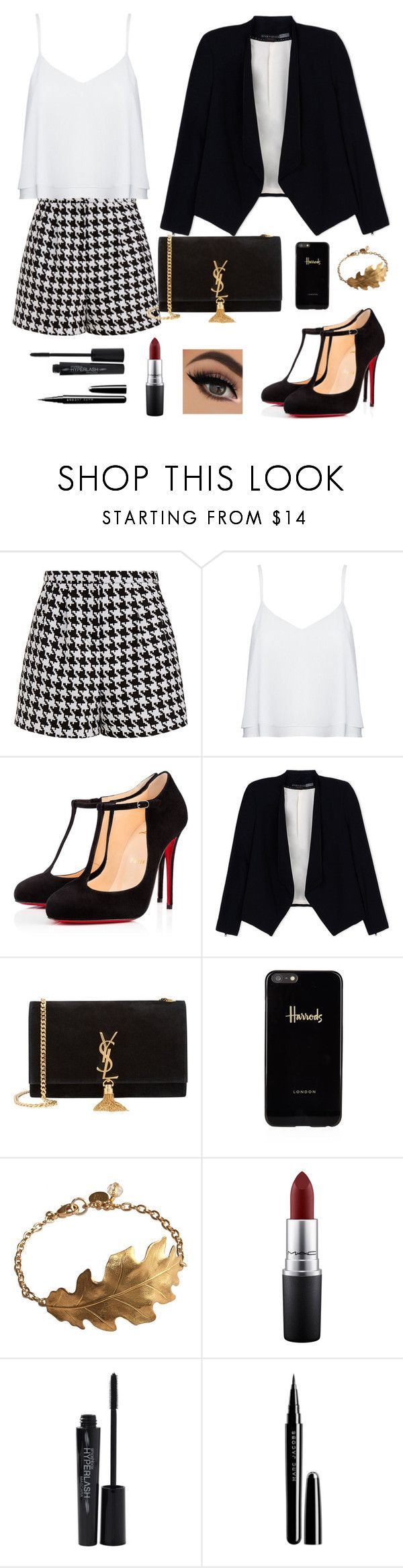 """Untitled #76"" by bertuki21 ❤ liked on Polyvore featuring Emma Cook, Alice + Olivia, Christian Louboutin, Yves Saint Laurent, Harrods, MAC Cosmetics, Smashbox, Marc Jacobs, women's clothing and women"
