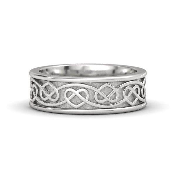 Sterling Silver Ring | Celtic Heart Band | Gemvara