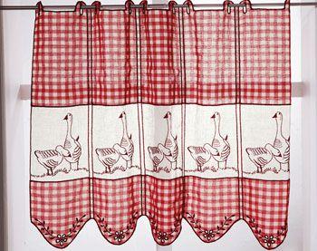 Les 25 meilleures id es concernant rideaux de cuisine rouge sur pinterest r - Rideaux style cottage ...