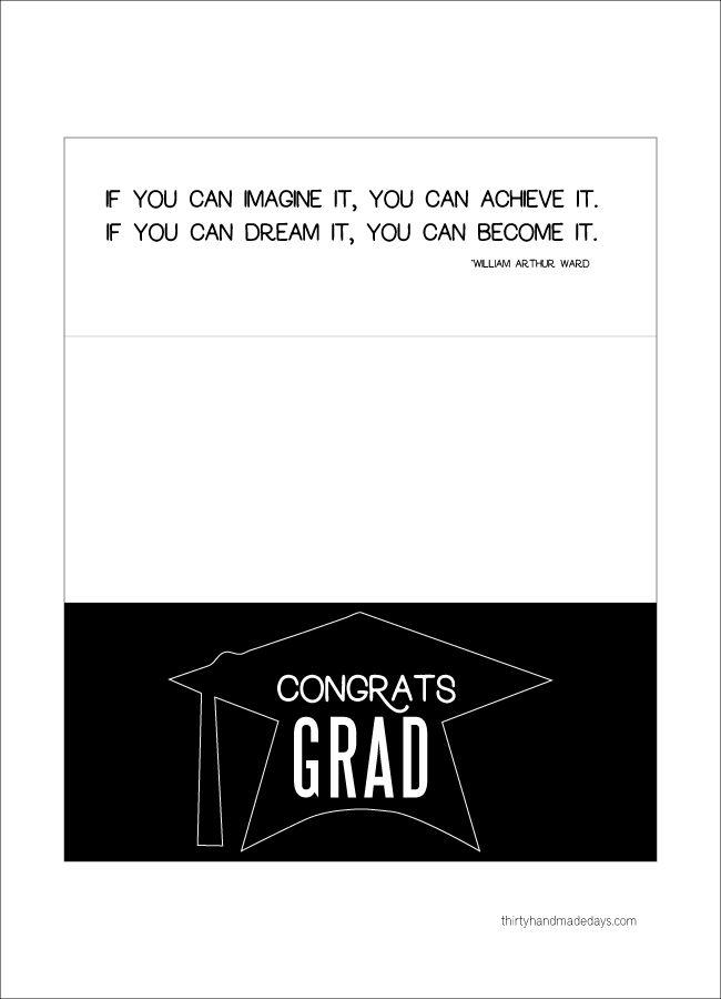 96 best graduation images on pinterest grad parties graduation printable graduation money holder card from thirty handmade days negle Gallery