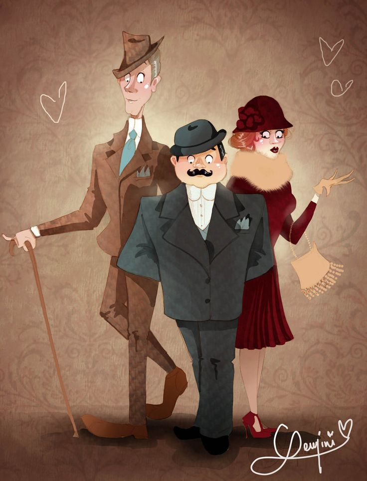 Hercule Poirot, Captain Hastings and Miss Lemon.