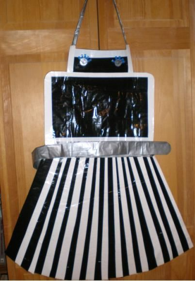 Duct Tape Robot Apron