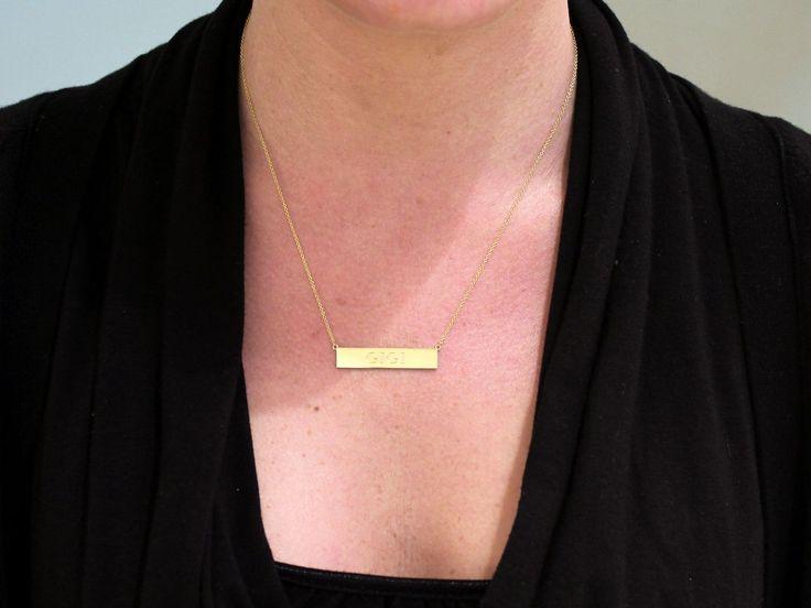 jennifer meyer nameplate necklace | Jennifer Meyer