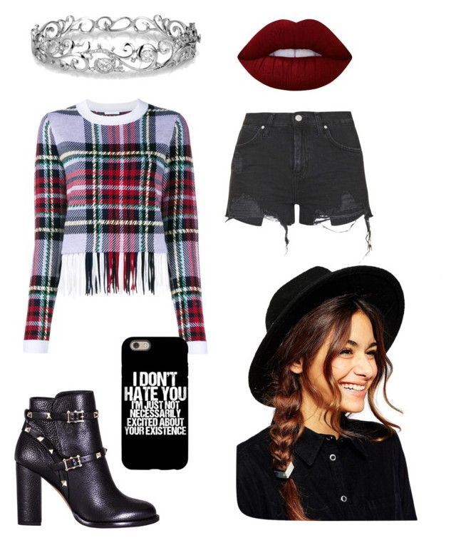 Threw it on by becfinck on Polyvore featuring Chloé, Topshop, Valentino, Effy Jewelry, ASOS, Lime Crime, Hawkeye and clintbarton
