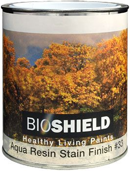 Bioshield Aqua Resin Stain Finish Non Toxic Low Odor