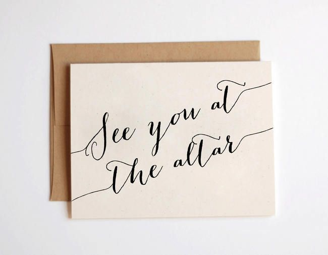 """See you at the Altar!""  See 15 Sweet 'For My Groom' Cards for Your Wedding Day on Confetti Daydreams: http://www.confettidaydreams.com/to-my-groom-wedding-day-card/"