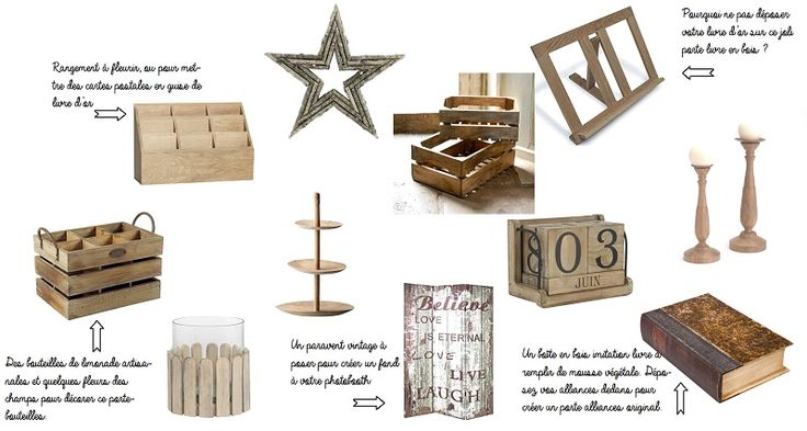 shopping ma d co vintage bois more mariage and. Black Bedroom Furniture Sets. Home Design Ideas