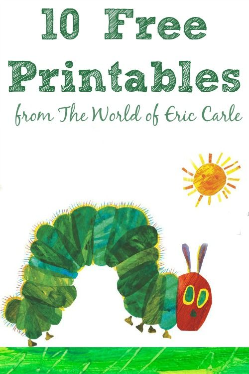 A ton of stuff from The World of Eric Carle including free printables and a super fun iPhone app! #sp