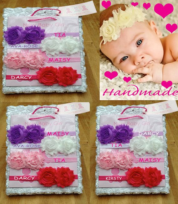 Personalised 2 x HANDMADE headband 0-5yrs  WITH name super deal on Etsy, £3.99