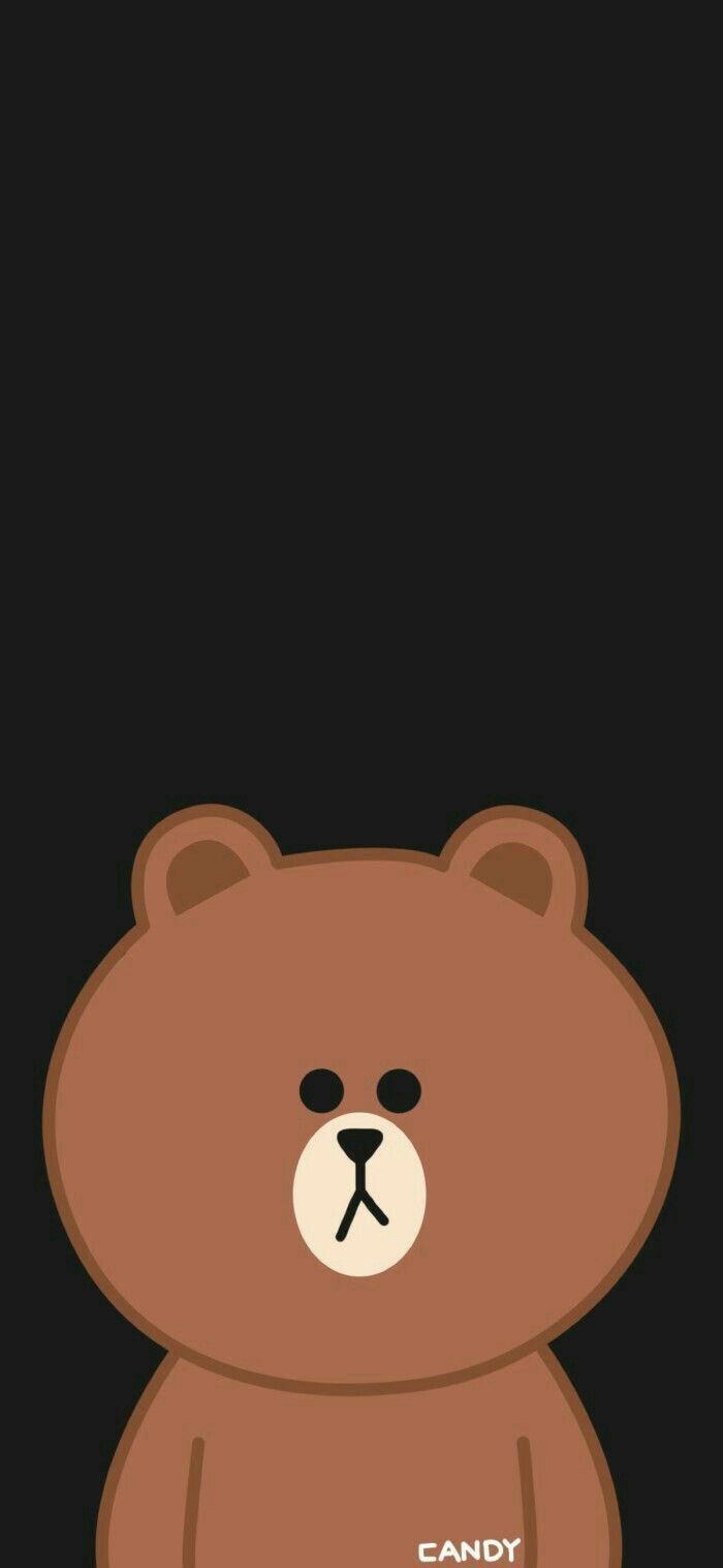Pin Oleh Ollivia Di Brown Line Beruang Coklat Kartun Kertas Dinding