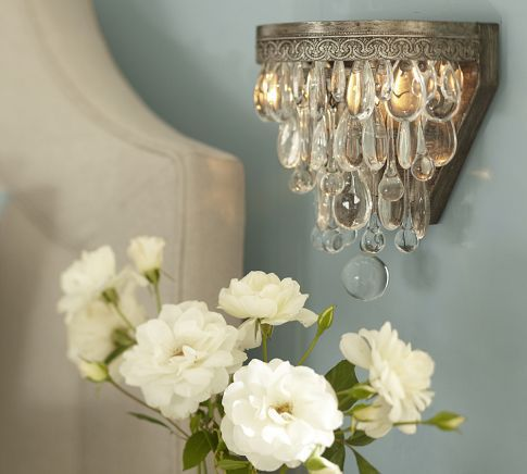 Clarissa Glass Drop Sconce | Pottery Barn