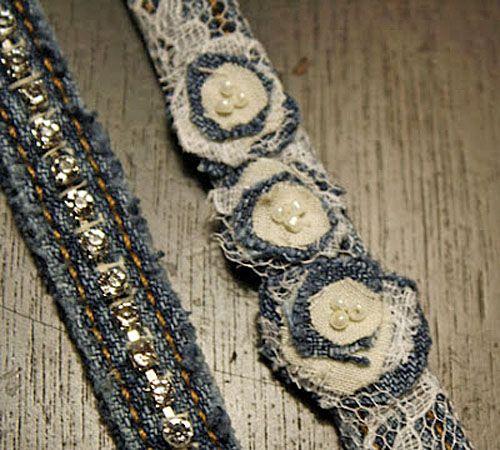 Denim Bracelets Made From Repurposed Jeans